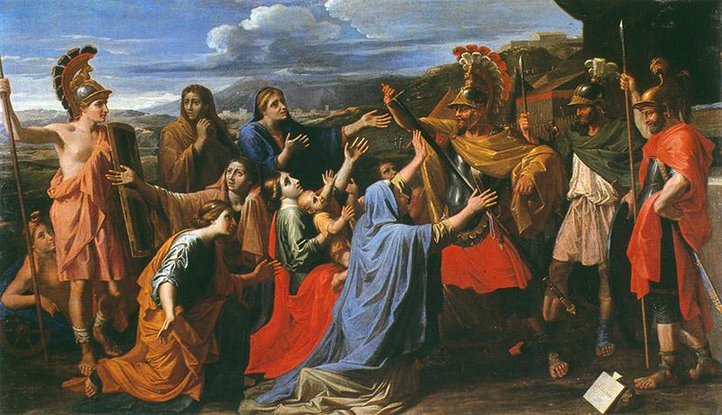 ニコラ・プッサン《コリオラヌスに哀訴する妻と母》