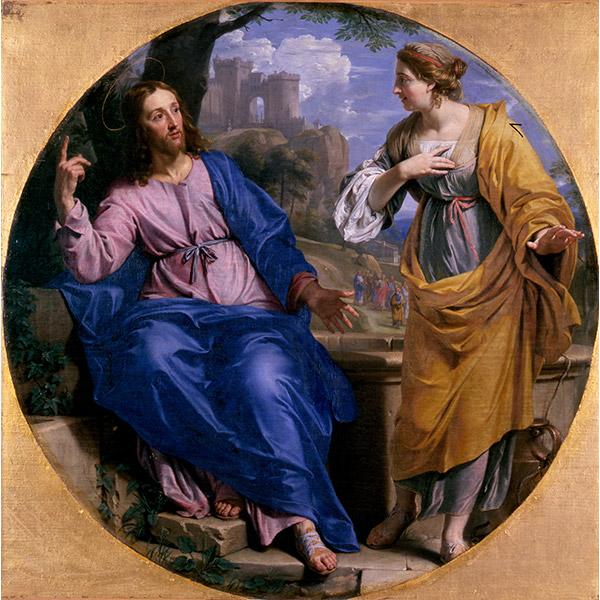 フィリップ・ド・シャンパーニュ《キリストとサマリヤの女》