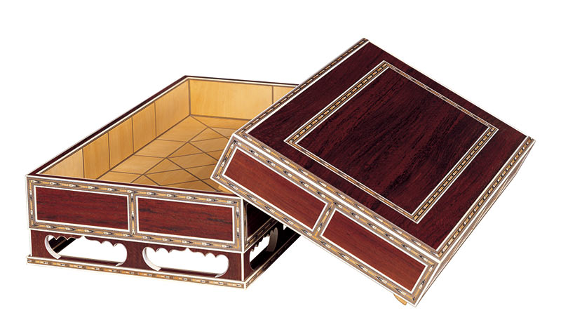 模造 紫檀木画箱