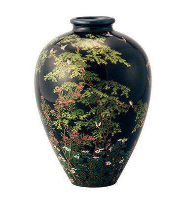 《七宝四季花鳥図花瓶》