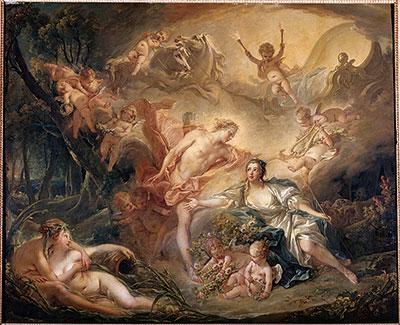 羊飼いの娘イッセの前に神の姿を現すアポロン