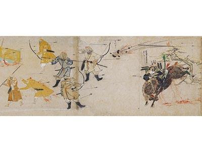 蒙古襲来絵詞(上巻部分)                 宮内庁三の丸尚蔵館