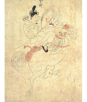 国宝 随身庭騎絵巻(部分)