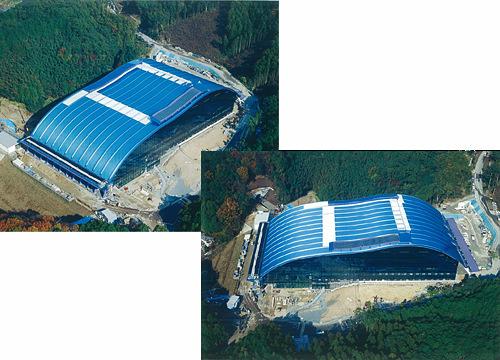 九州国立博物館施工航空写真